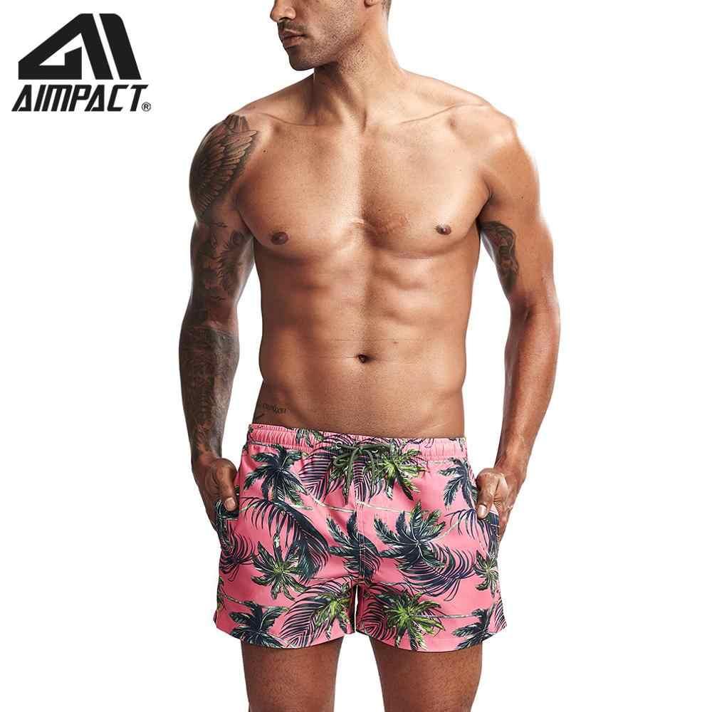 Fashion New Men's Board Shorts Fast Dry Male Swim Trunks Tropical Leaves Print Casual Sport Surf Beachwear Hybird Shorts AM2214