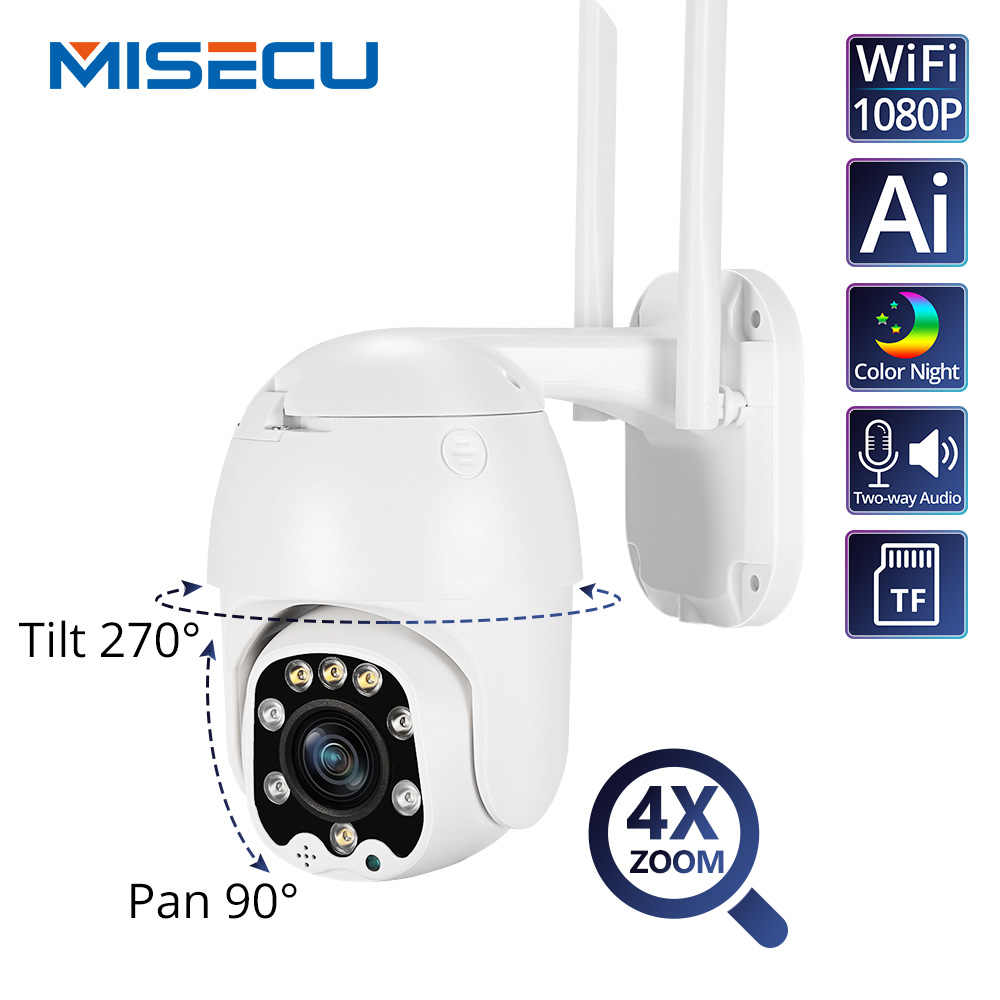 Ai 1080P Ptz 4X Optische Zoom Ip Camera Wifi Outdoor Speed Dome Wireless Security Camera Pan Tilt 2MP Netwerk cctv Surveillance