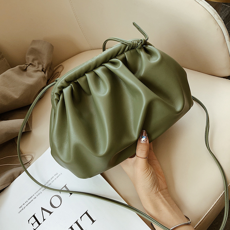 Solid Color PU Leather Crossbody Bags For Women 2020 Lady Shoulder Messenger Bag Female Handbags Elegant Clutch