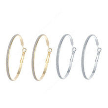 Frosted Hoop Earrings Simple Ear Rings Decorations Jewelry Women Trendy Alloy Fashion Exaggerated Large Circle Shining
