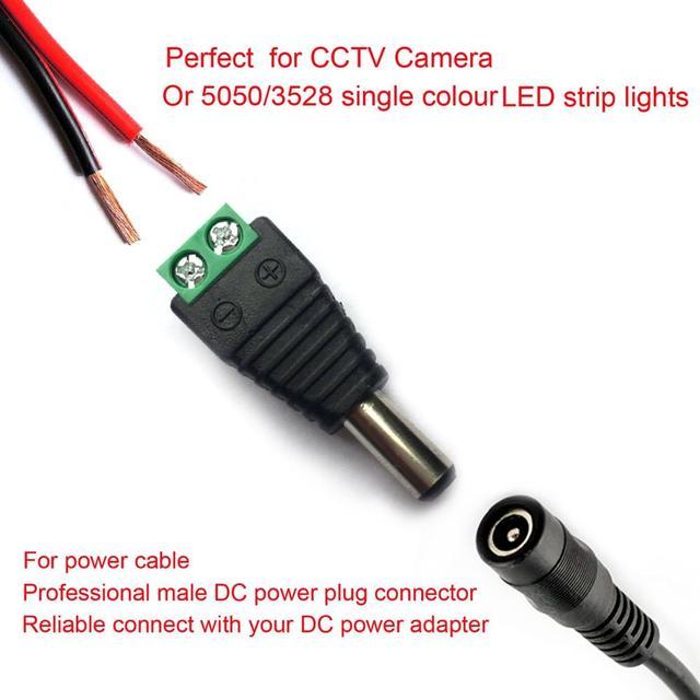 2/5/10 sztuk 12V DC BNC mężczyzna kobieta złącze Coax CAT5 wideo balun przejściówka dla Led diody na wstążce CCTV akcesoria do aparatu