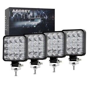 4pcs led work light bar 48W led light bar 4x4 accessories off road fog light for truck ATV UTV led bar offroad 12V 24V car light