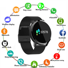 Newwear Q8 Smart Watch Fashion Electronics Men Women Waterproof Sport Tracker Fitness Bracelet Smartwatch Wearable Device diggro q8 oled bluetooth fitness smart watch stainless steel waterproof wearable device smartwatch wristwatch men women tracker