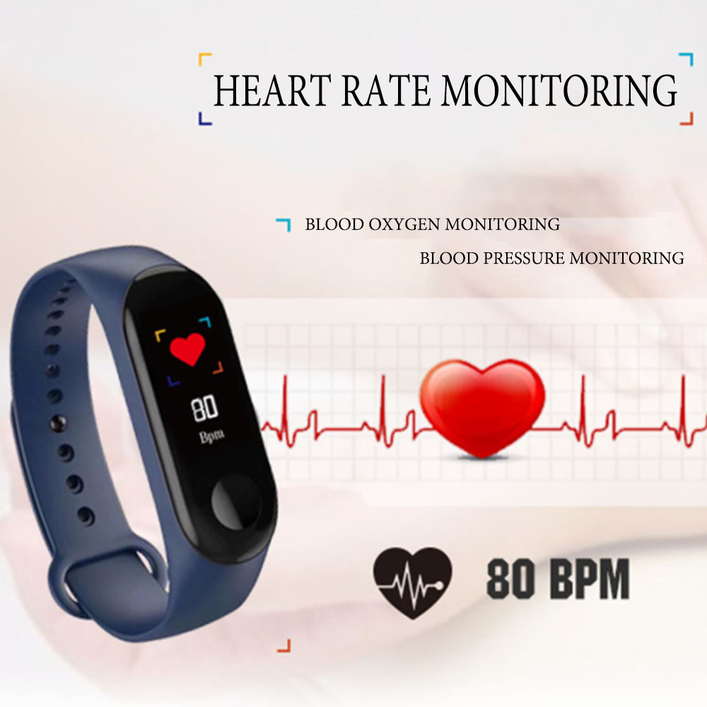 M3 Pro Smart Watch Sport Smart Band Blood Pressure Monitor Smart Wristband Smartwatch Bracelet M3 Plus Wristband for Men Women
