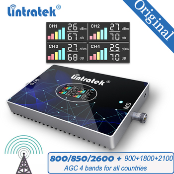 Repetidor amplificador GSM 4G 3G 2G Amplificador de señal móvil 800/850 900 1800 2100, señal móvil, DCS 2G WCDMA 3G 4G LTE