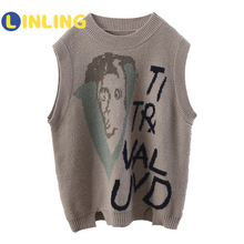 Jackets Vests Spring Knitted Girls Autumn Fashion-Style And LINLING Models P754