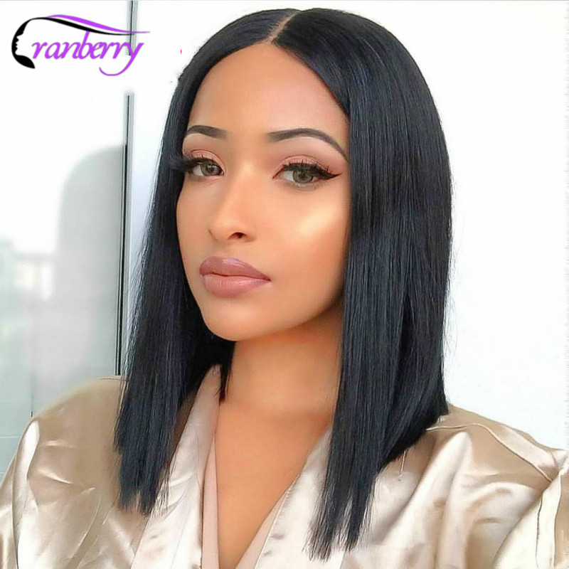 Cranberry Hair Straight Bob Lace Front Wigs 13x4 Lace Front Wigs For Women Brazilian Wig Remy Short Human Hair Wigs 8-16 Inch