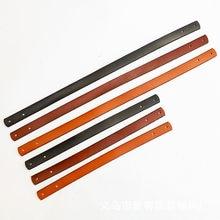 Sangles de sac à bandoulière 100% cuir véritable, 2 pièces, poignée de rechange détachable, accessoires de bricolage
