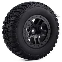 4Pcs Short Course Tires& Wheel Rims for 1/10 RC Terrain Truck Traxxas Slash VKAR 10SC RC Car Parts