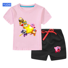 цена на Boys Clothing Set Baby girls Clothes New Summer Kids Clothing Sets T-Shirt + Pants 2Pcs children Suit fashion Summer Tracksuit