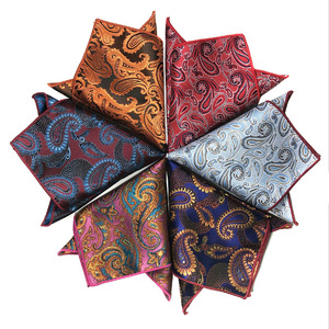 Men Handkerchief Luxury Jacquard Tie for Mens Gift Paisley Pocket Square Towel Hankies 26.5cm Fashion Full Dress Accessories(China)