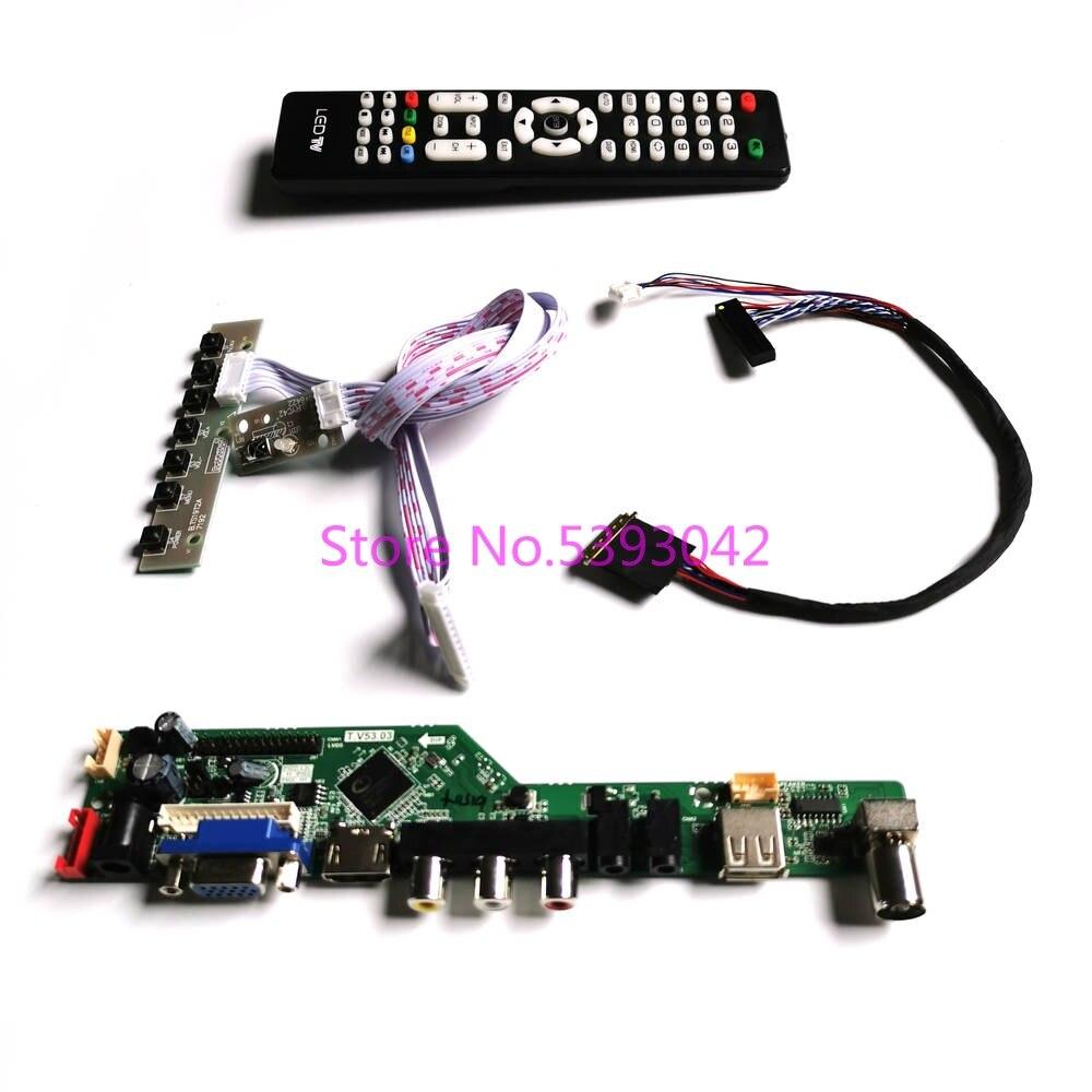 KIT for LP156WD1 (TL)(B4)/(TL)(D1)/(TL)(D2)/(TL)(D3)/(TL)(D5) LVDS 40-Pin Remote  VGA AV 1600*900 LCD TV control drive board