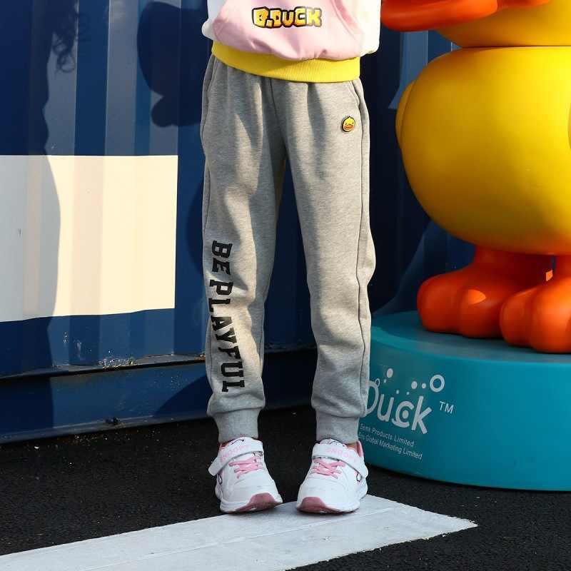 B. pato pequeno amarelo pato boyboys primavera 2019 novo estilo de malha calças casual fecho pé rotulado moda inflooring qu esportes