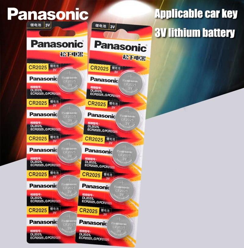 Оригинальные батарейки Panasonic cr2025 10 шт./лот cr 2025 3V литиевая монета батарея для часов калькулятор весовые весы