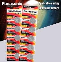 Panasonic 10 peças de baterias de lítio cr2025, cr 2025 3V bateria tipo moeda para relógio, calculadora, balança