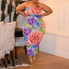 Women Vestidos 2019 Fashion Sleeveless Vest Dress Ladies Slim Retro Party Boho Foral Print Bodycon Dresses Plus Size 4XL