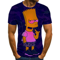 New summer men and women 3D printed T-shirts Simpson casual tops fashionable and interesting streetwear hip-hop short sleeves