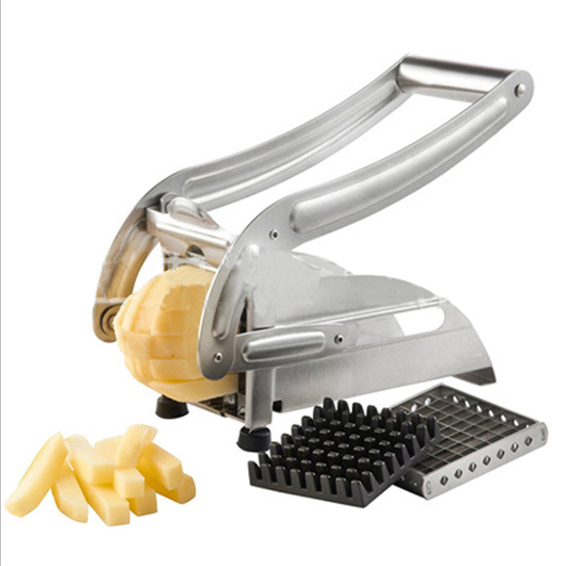 Manual Stainless Steel French Fries Potato Chips Vegatable Strip Cutter Chopper Machine Potato Cut Fries With 2 Blades