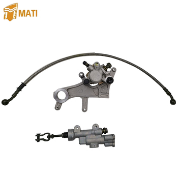 цена на Rear Brake Caliper Master Cylinder Oil Hose Pipe with Pads for Honda CR125R CR250R CRF250R CRF250X CRF450R CRF450X CR 125R 250R