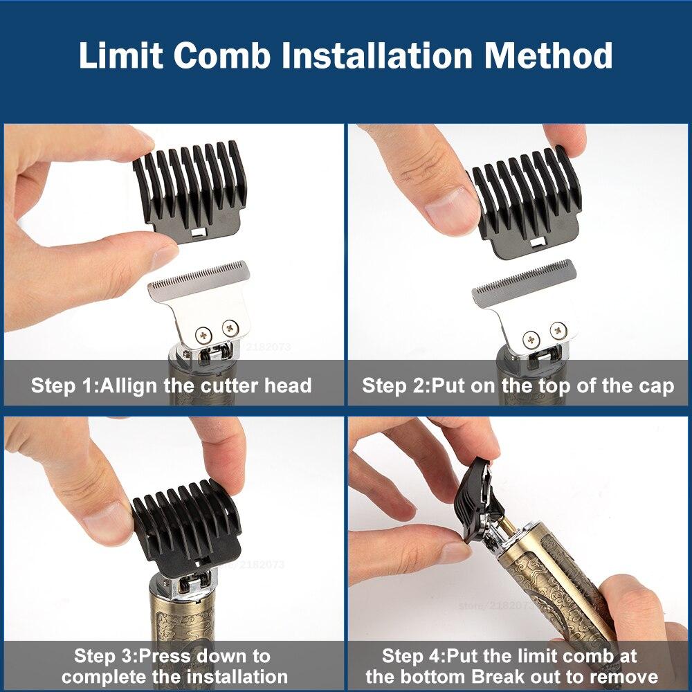 2021 Electric Hair Clipper Hair Trimmer For Men Rechargeable Electric Shaver Beard Barber Hair Cutting Machine For Men Hair Cut 6