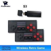 Игровая консоль POWKIDDY S3 с USB, 8 бит, ТВ, Беспроводная портативная игровая мини консоль со встроенным 628 классическим двойным геймпадом, HDMI/AV выход