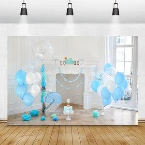 Image 4 - Laeacco Geburtstag Baby Dusche Neugeborenen Kulissen Chic Wand Papier Dach Blumen Kinder Portrait Fotografie Hintergründe Studio