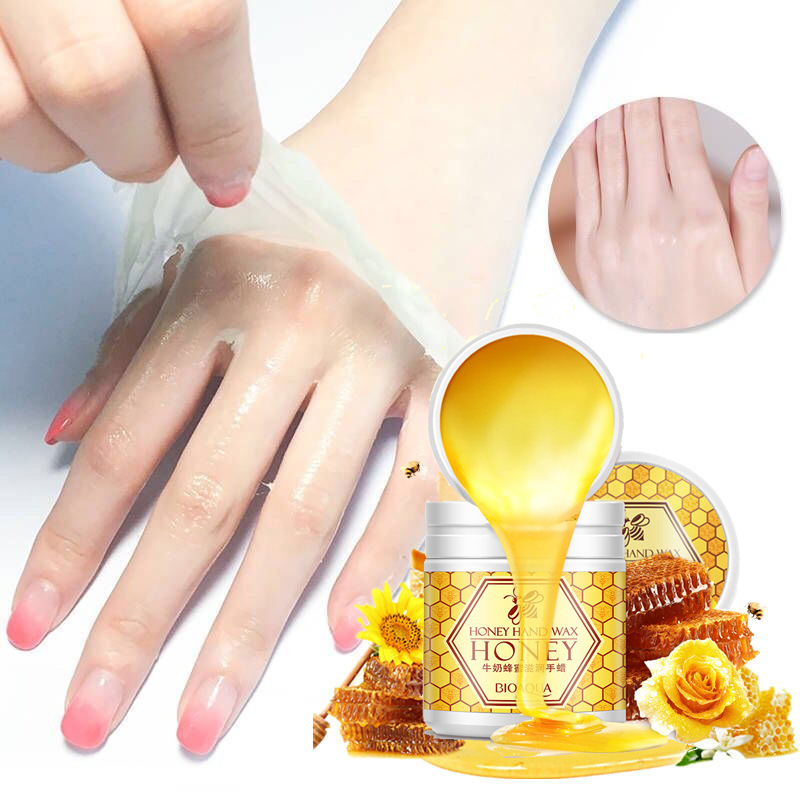 Milk Honey Moisturizes Hand Wax Film Hand Care Skin Care Cosmetics Moisturizing Exfoliating Whitening 170g/1pcs