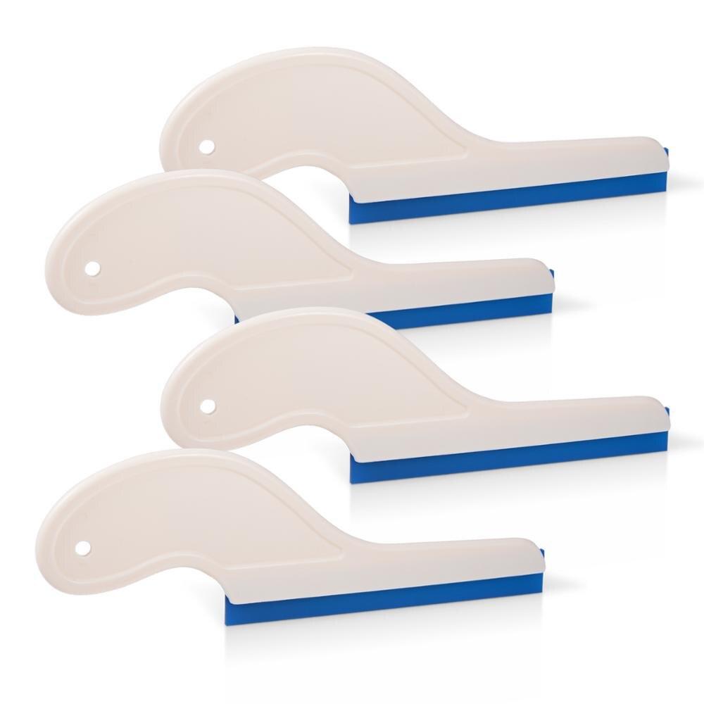 foshio 4 pcs ferramentas de tingimento do carro neve agua limpador lamina borracha rodo mais limpo