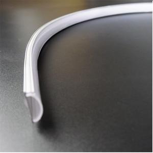 Image 4 - 5pcs di 50 centimetri piatto di U tipo di 6 millimetri di altezza slim led profilo in alluminio, flessibile di scanalatura del led, flessibile opaco bar alloggiamento della lampada