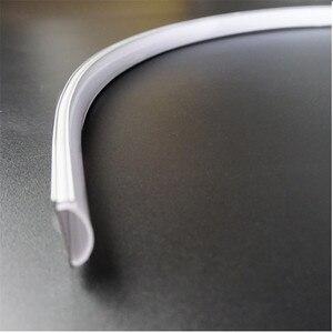 Image 4 - 5pcs of 50cm flat U type 6mm height slim led aluminium profile ,flexible led channel ,bendable matte diffuser bar light housing
