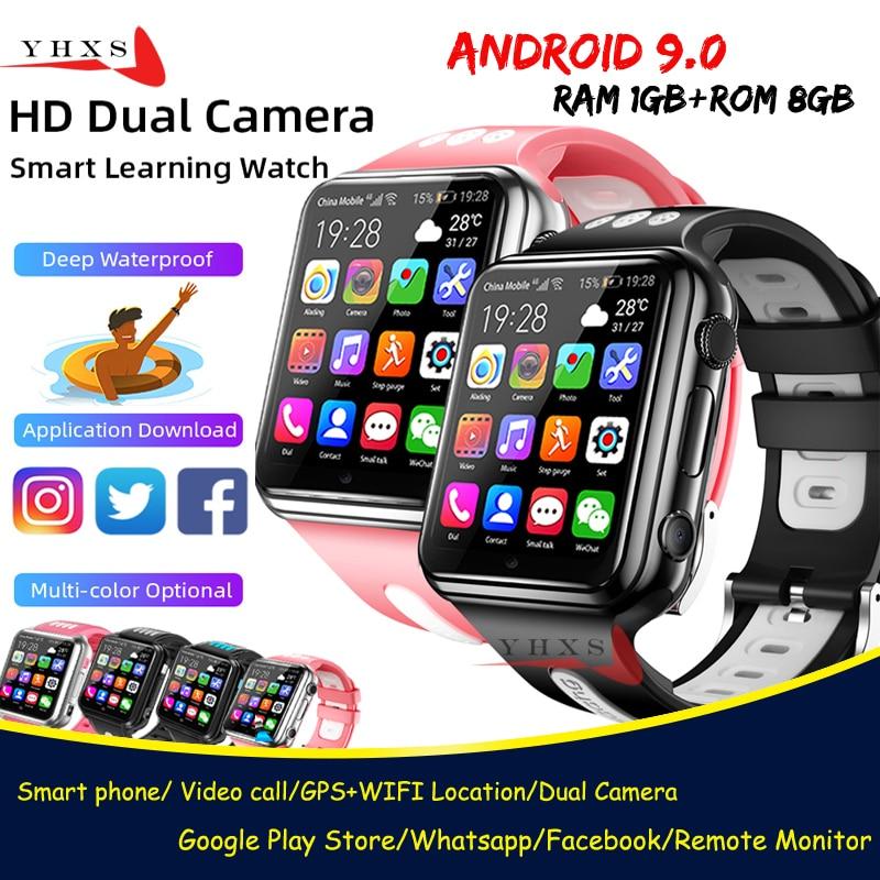 Смарт-часы на Android 9,0 с озу 1 гб пзу 8 гб, 4G GPS, детская студенческая музыкальная камера, наручные часы с монитором SOS, отслеживанием местоположе...