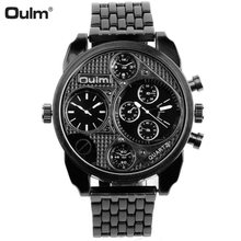 Mens Big Dual Dial OULM 9316 Brand Luxury Watches Male dz Watch Military Montre Homme de Marque Relogio Masculino Marca Original(China)