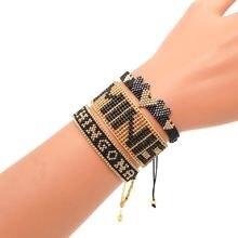 Shinus boho miyuki браслет chingona power pulseras mujer moda