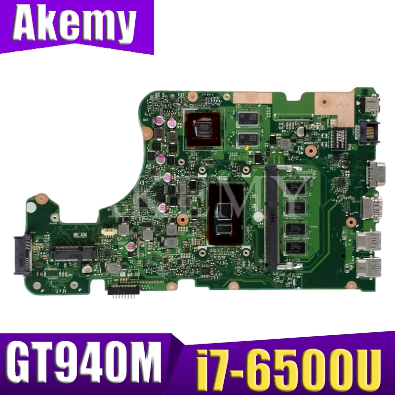 Akemy For <font><b>ASUS</b></font> X555U <font><b>X555UJ</b></font> X555UF X555UQ X555UB A555U K555F F555U laptop motherboard i7-6500 4GB RAM work original mainboard image