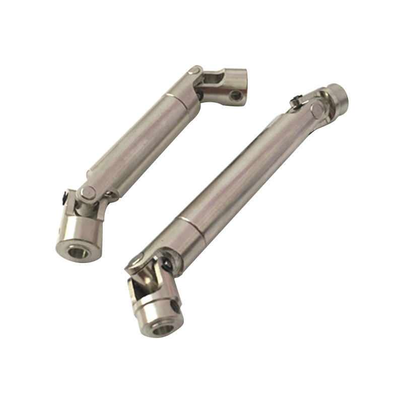 2Pcs Scx10 Steel Universal Drive Shaft With Cvd 110-155Mm For 1/10 Scale Models Rc Car Axial Crawler Tf2 Trx4(China)