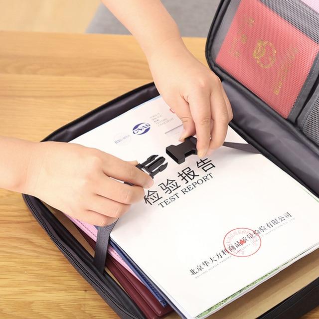 Sac à documents et billets à fermeture éclair | Sac à documents, sac de rangement de dossiers de certificats pour la maison, sac de porte-cartes de grande capacité