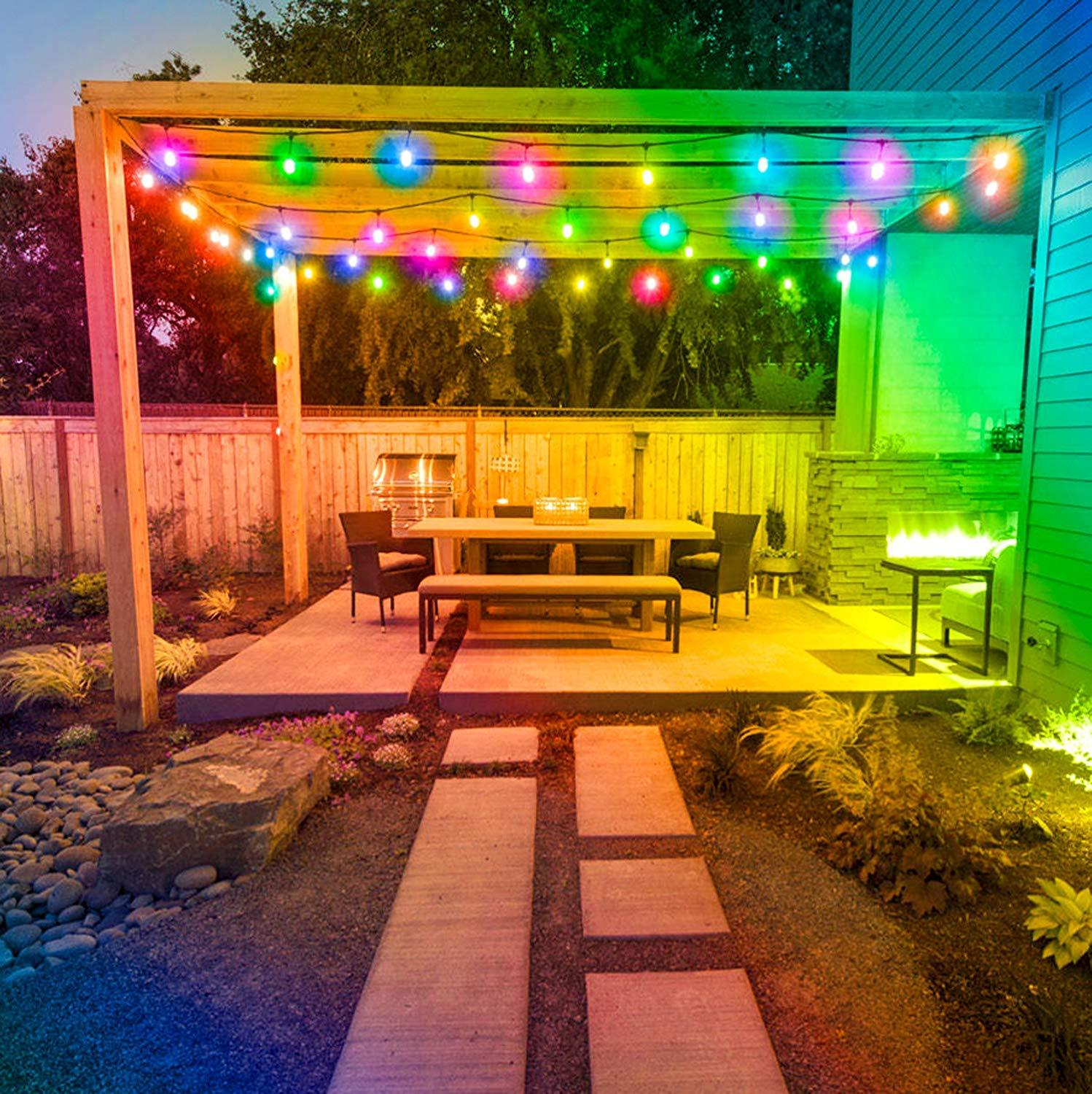 15m Color Changing Outdoor String Lights 48ft Rgb S14 Shatterproof Edison Bulbs Dimmable Led Commercial Christmas Lights Garden Led String Aliexpress