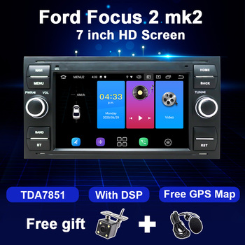 Android 10 2 Din Car Radio GPS For Ford Focus 2 3 mk2 Fiesta Mondeo 4 C-Max S-Max Fusion Transit Kuga Multimedia Player DSP WIFI image
