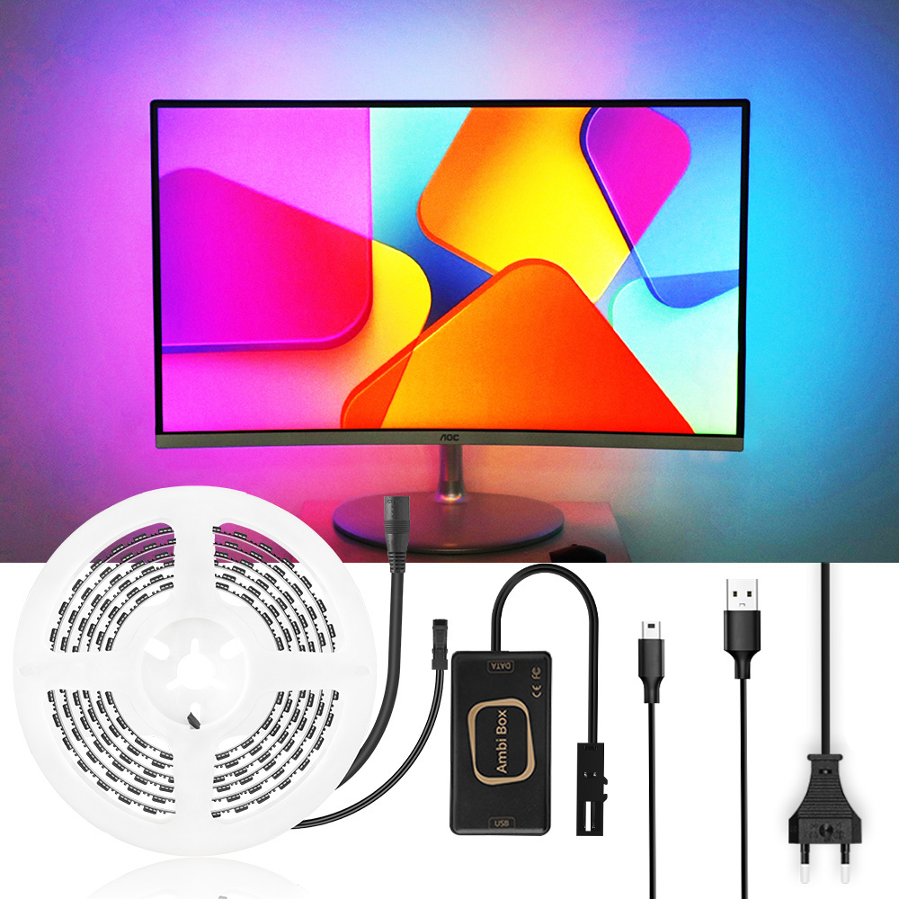 RGB Led Strip TV Backlight Ambilight TV Kit Android Smart APP Control Box USB Led Strip For TV PC Monitor Screen Ambient Strip|LED Strips| |  - title=