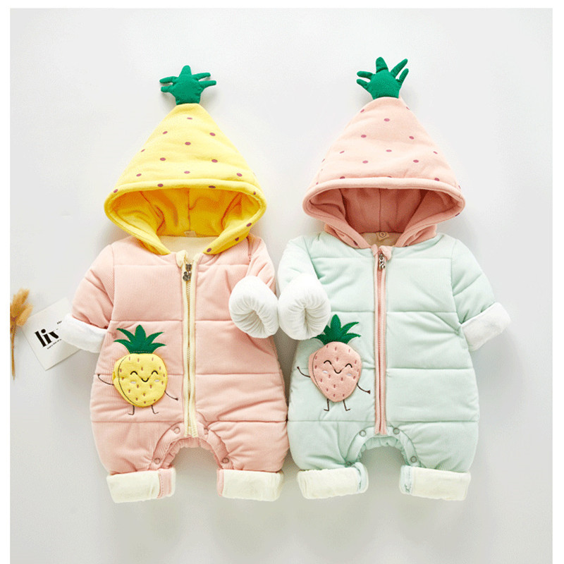 2019 Russia Winter Overalls For Newborns Baby Rompers Infant Jumpsuit Overalls Warm Kids Outerwear For 0-12M Infant Clothing
