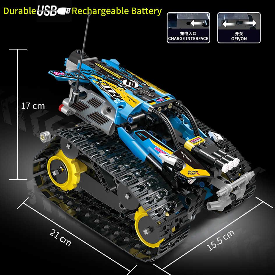 Technic RC Auto Seguito di Prodezza Gara Automobilistica Blocchi di Costruzione APP Raido Remote Control Camion Giocattoli Per I Bambini