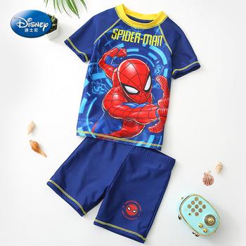 Oryginalny Disney SpiderMan strój kąpielowy dla Baby Boy strój kąpielowy dla dzieci dzieci stroje kąpielowe dla chłopców chłopiec stroje kąpielowe dla dzieci SW200333 tanie i dobre opinie Poliester spandex Octan Boys baby Wysypka guards Pasuje prawda na wymiar weź swój normalny rozmiar Cartoon