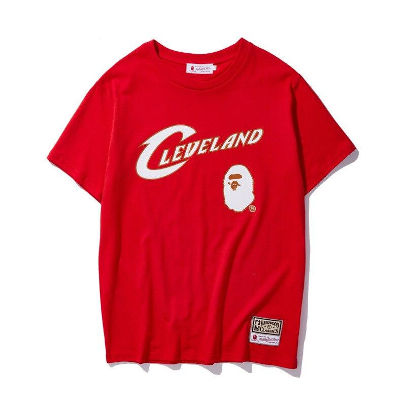 2019 Summer New Style NBA Team Joint Shirt Teenager Students Summer Popular Brand Short Sleeve T-shirt
