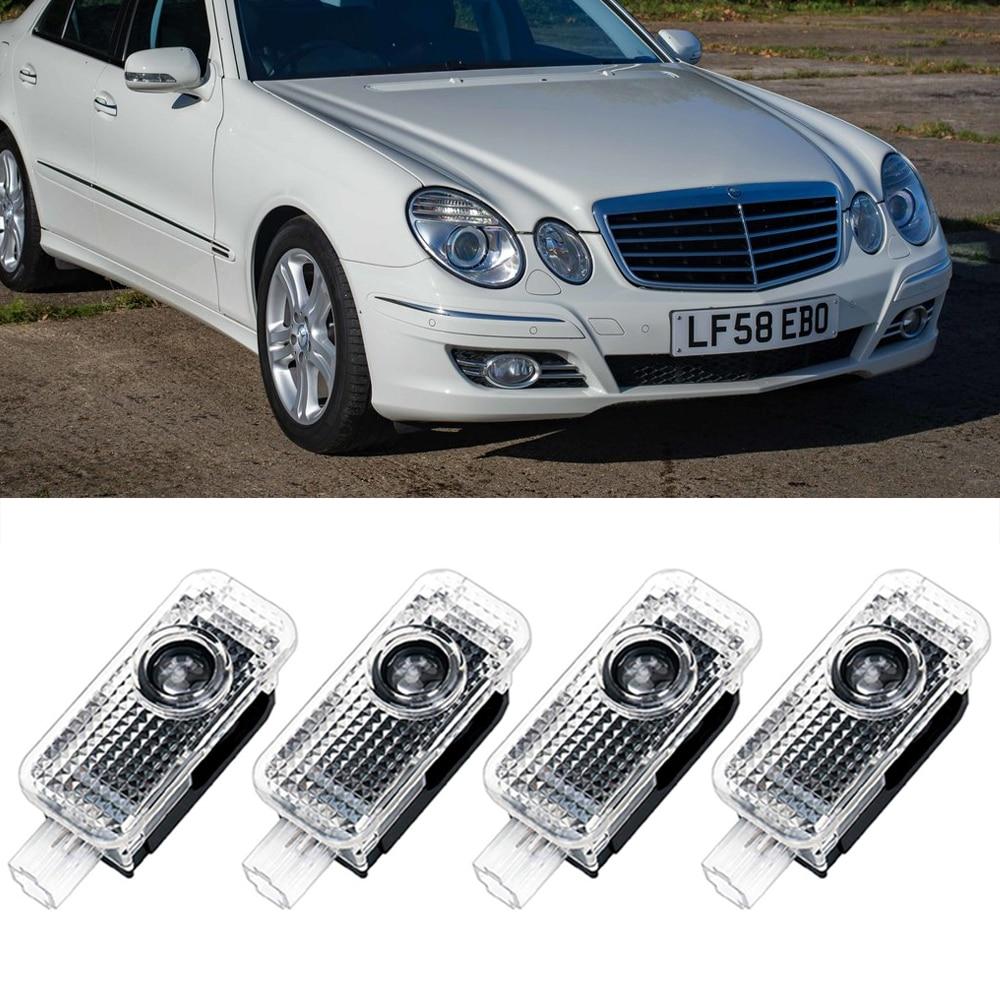 Для Mercedes Benz W211 светодиодный машинные дверные лого лазер декор настенные светильники Ghost Shadow HD проектор приветственные лампы Luces любезно фон...