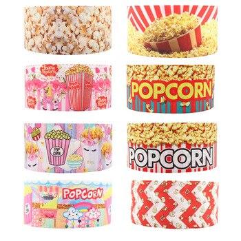 Q & N cinta de 16mm 22mm 25mm 38mm 50mm 75mm palomitas de maíz alimentos 50 yardas cintas de regalo caja diy accesorios cincha/FOE envío gratis