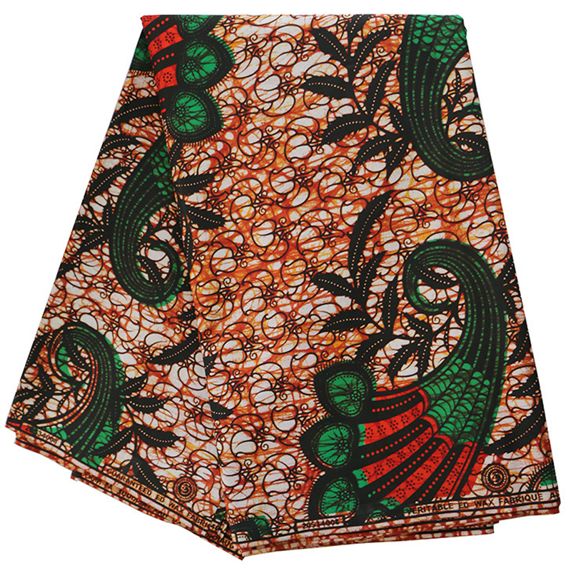 2019 New Fashion African Fabric Guarantee 100% Cotton African Nigeria Veritable Ankara Real Dutch Wax 6Yard