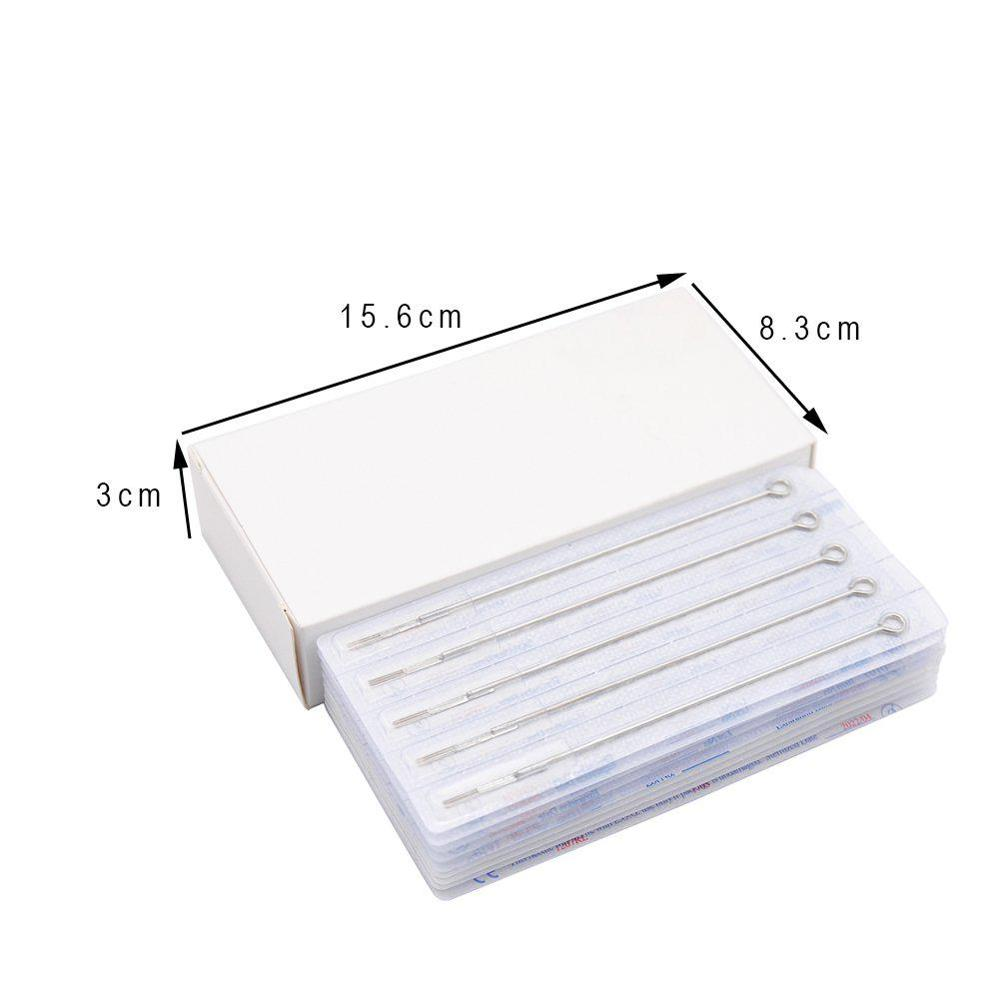 10pcs 3 5 7 9RL 5 7 9RS 5 7 9M1 Assorted Sterilized Tattoo Needles Different Models Agujas Microblading Naalden Permanent Makeup in Tattoo Needles from Beauty Health