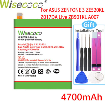 WISECOCO New 4700mAh C11P1601 Battery For ASUS ZENFONE 3 ZENFONE3 ZE520KL Z017DA For ZenFone live ZB501KL A007 Mobile Phone image