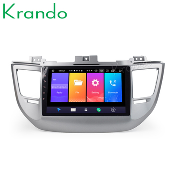 Krando Android 9.0 10.1 IPS Big screen car multimedia system for Hyundai IX35 tuscon 2015+ navigtaion GPS No 2din DVD image