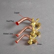 Утепленные кондиционер клапан BSP Thread 3 Way изгиб штуцер с гайкой Разделение расширительный клапан для кондиционера воздуха 6 мм/10 мм/12 мм/16 мм/19 мм
